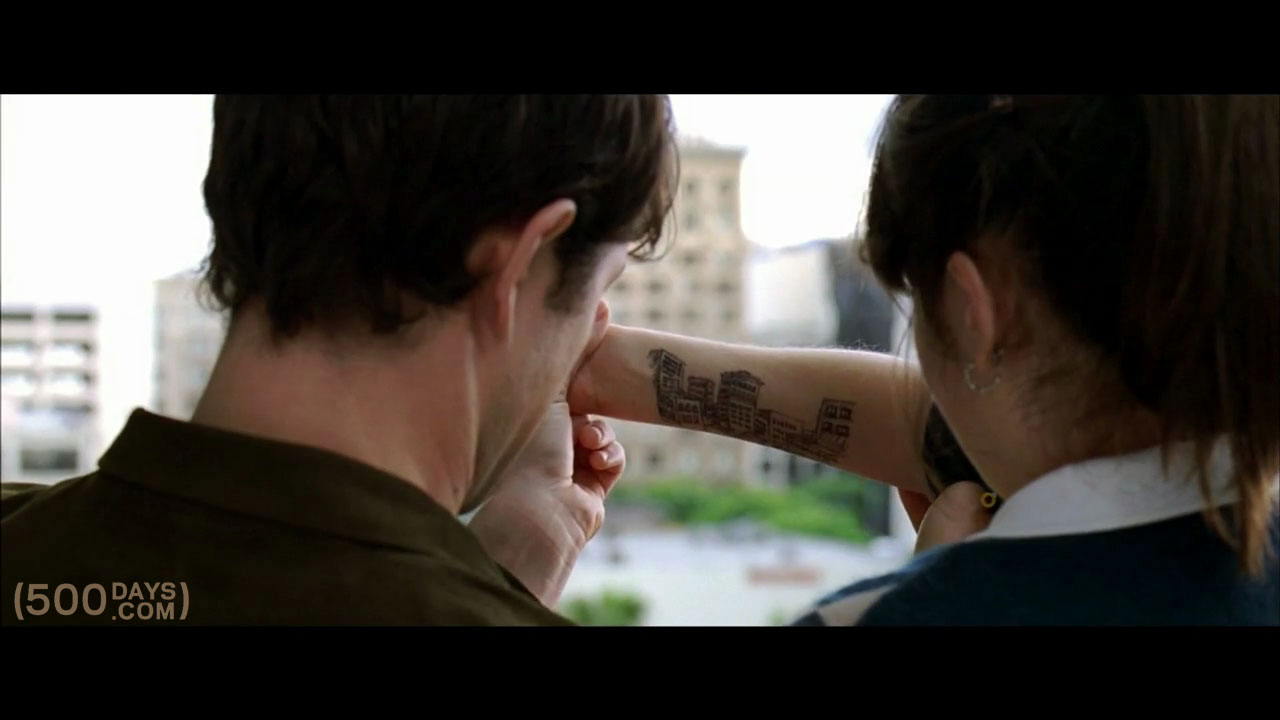 Drawing on summer s zooey deschanel arm for Architecture drawing 500 days of summer