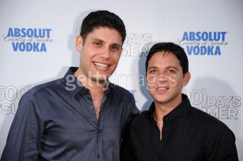 Screenwriters Scott Neustadter and Michael Weber (Sorry for the watermark, Scott!)