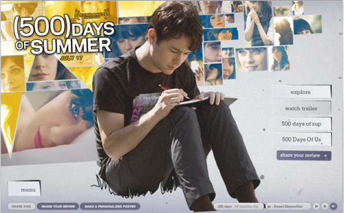 500 Days of Summer Site